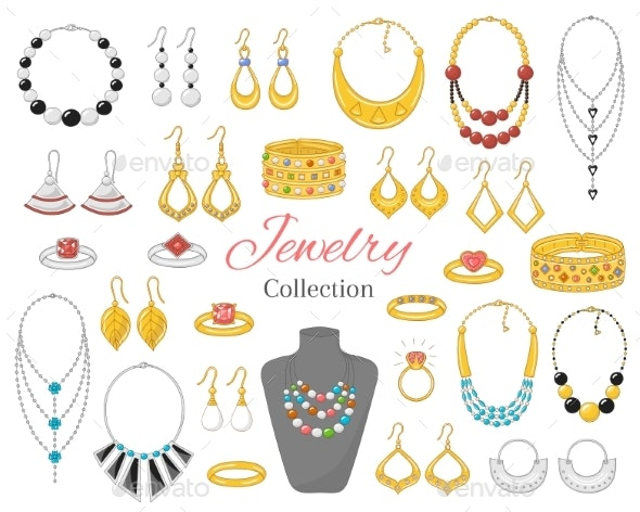 Fashionable Jewelry Collection - Miscellaneous Vectors