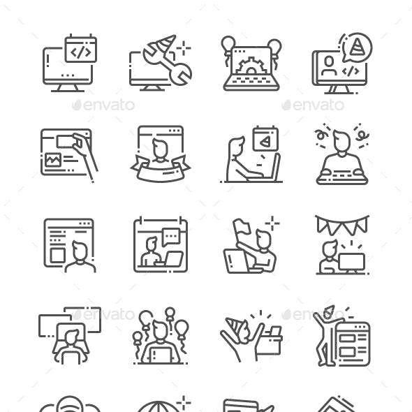 Webmaster's Day Line Icons