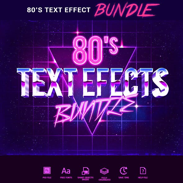 80s Text Effects Bundle