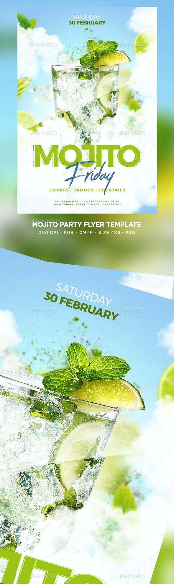 Mojito Party Flyer - Clubs & Parties Events