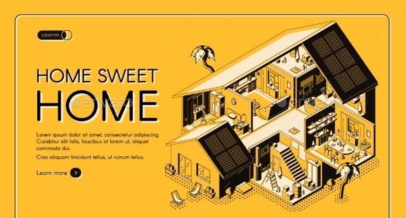 Home Engineering Company Isometric Vector Website - Web Elements Vectors