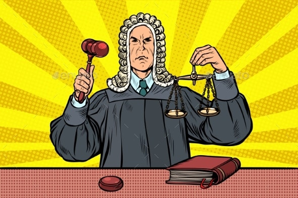 Judge with a Hammer - Miscellaneous Vectors