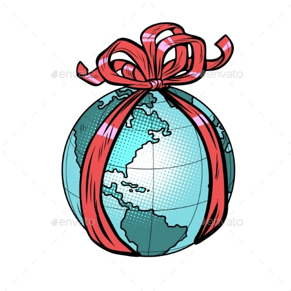 Planet Earth Holiday Gift - Miscellaneous Vectors