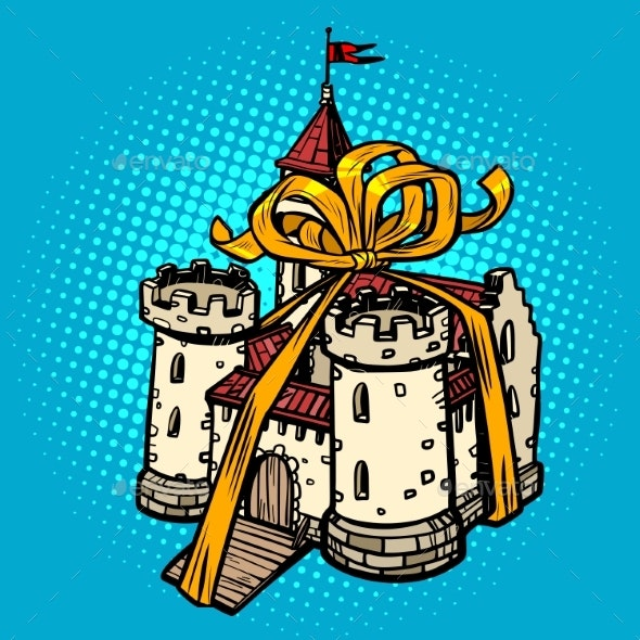 Gift Ribbon Medieval Castle - Buildings Objects