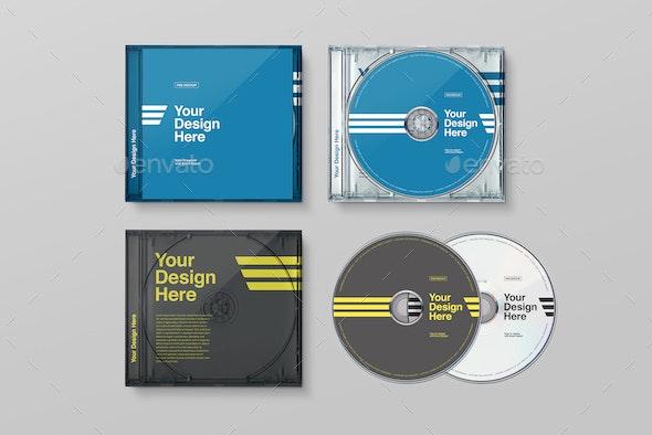 CD Case Mockups - Discs Packaging