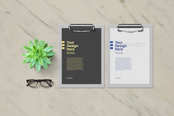 Clipboards Mockup - Print Product Mock-Ups