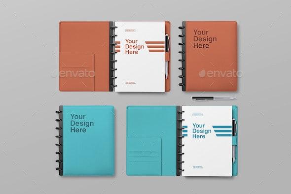 Notebook Mockups - Print Product Mock-Ups