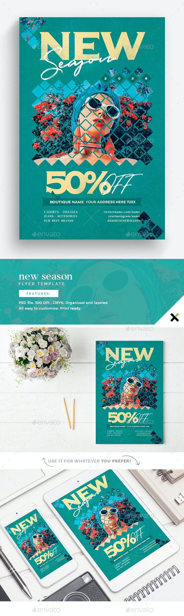 New Season Flyer Template - Flyers Print Templates