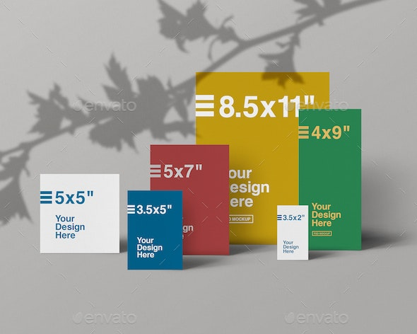 Paper Collection Front View Mockups - Flyers Print