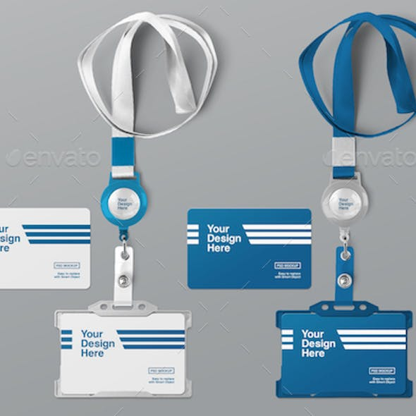 ID Card Holder Mockups
