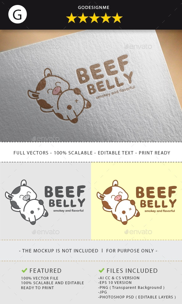 Beef Belly Logo Design - Vector Abstract