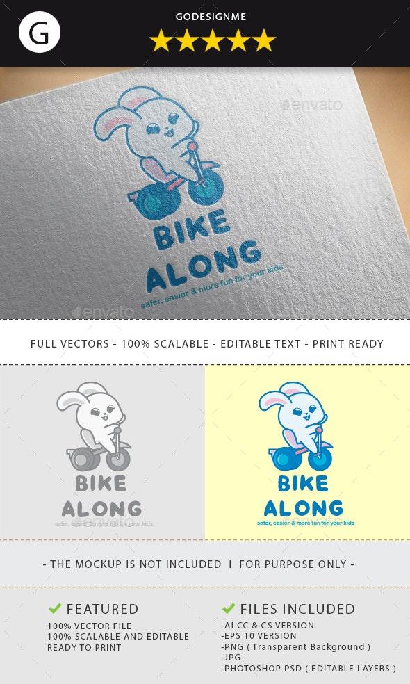 Bike Along Logo Design - Vector Abstract