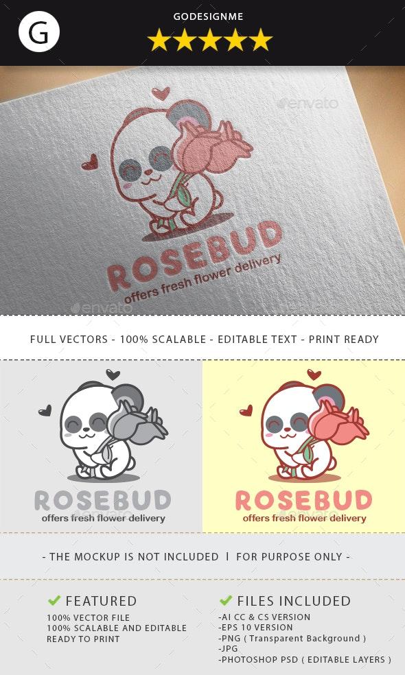 Rosebud Logo Design - Vector Abstract