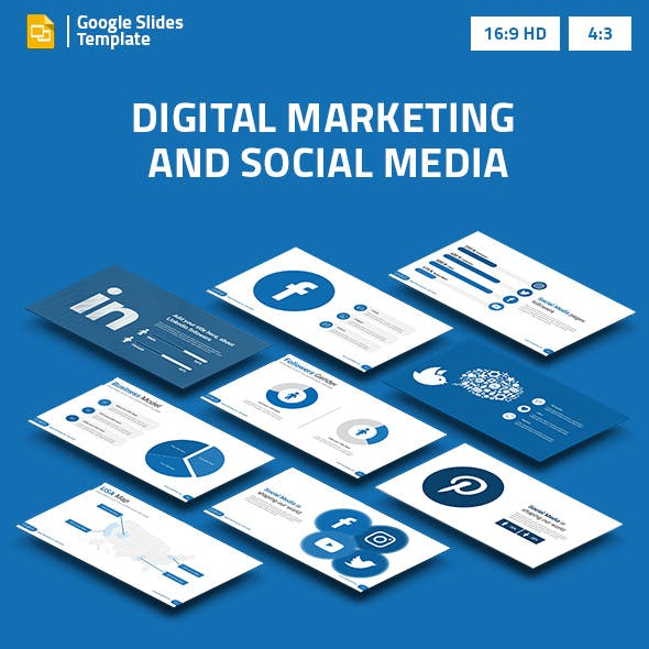 Digital Marketing and Social Media 2 Google Slides Presentation Template
