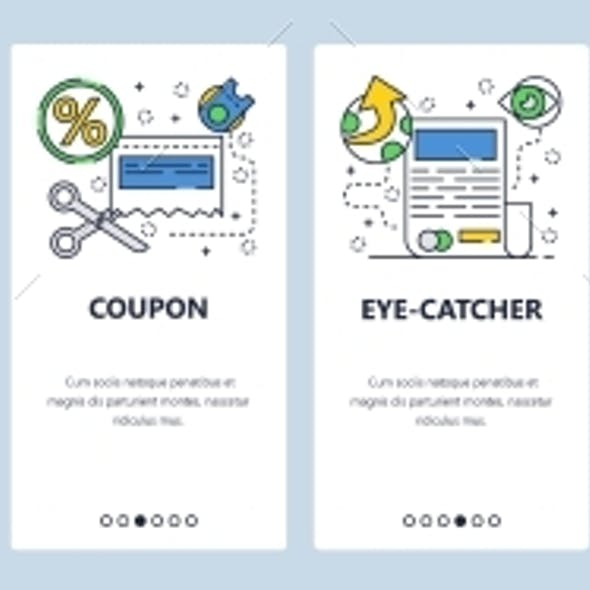 Web Site Onboarding Screens for Marketing