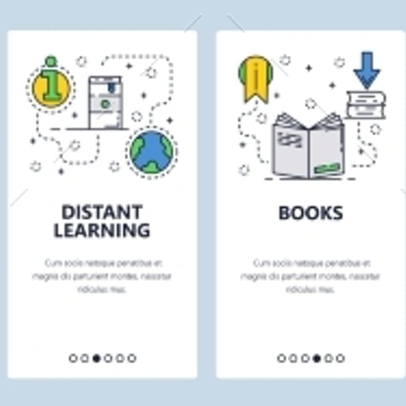 Web Site Onboarding Screens for Online Education