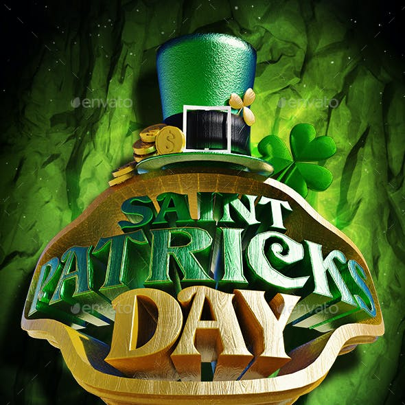 Saint Patricks Day 3D PNG