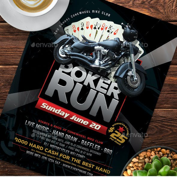 Poker Run Flyer Templates