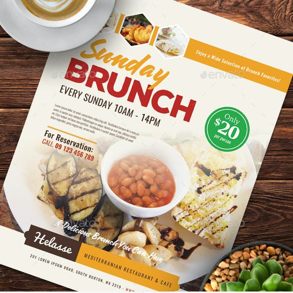 Sunday Brunch Flyer Templates
