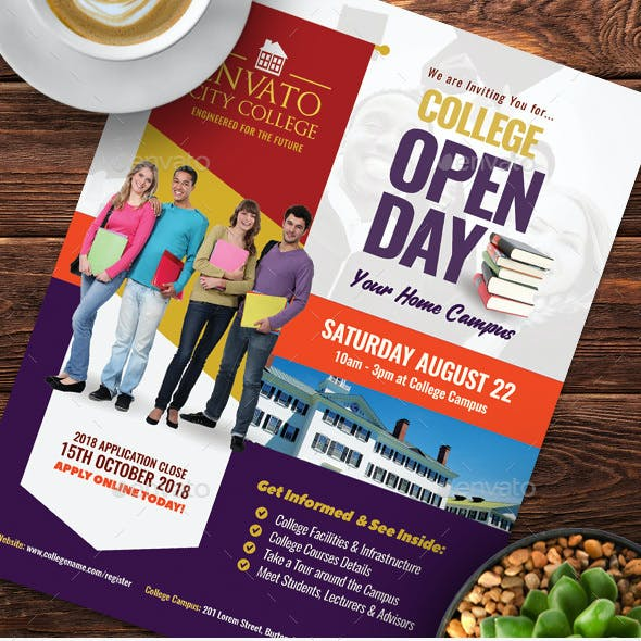 College Open Day Flyer Templates