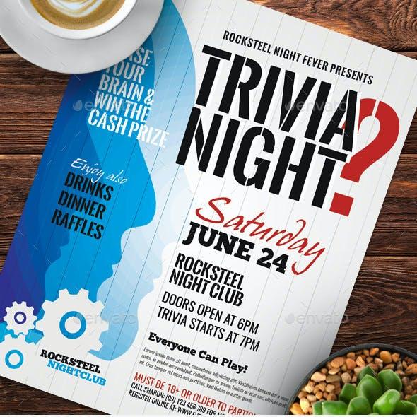 Trivia Night Flyer Templates