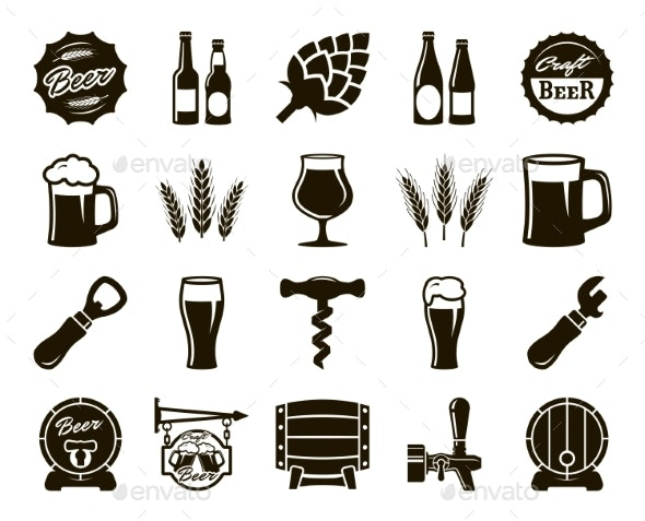 Beer Brewing Set - Miscellaneous Vectors
