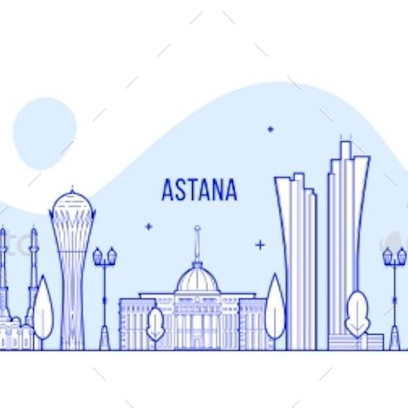 Astana Skyline Kazakhstan City Buildings