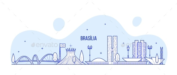 Brasilia Skyline Brazil City Buildings - Buildings Objects
