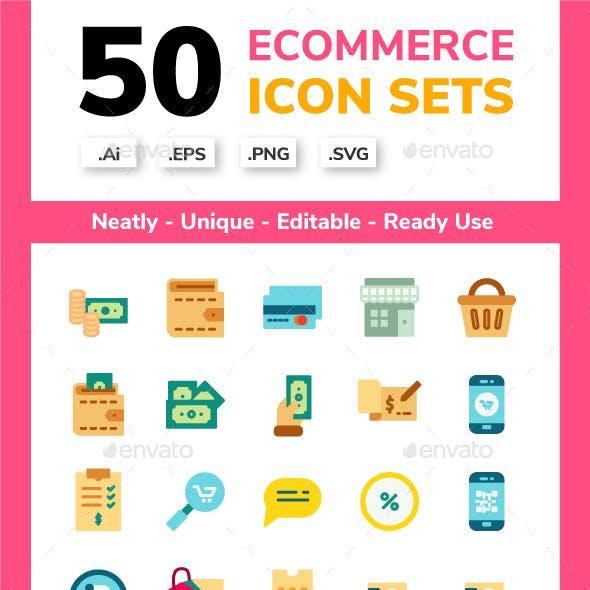 Ecommerce Flat Icon set