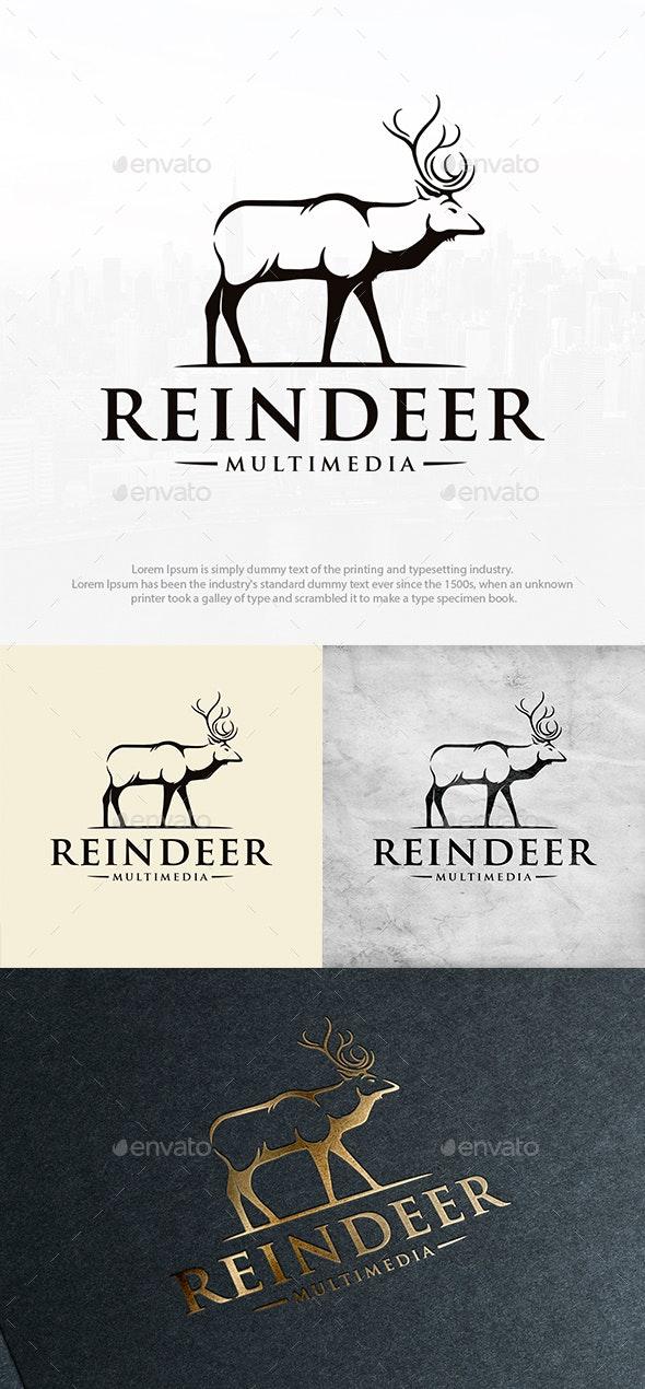 Nature Reindeer Vintage Logo - Animals Logo Templates