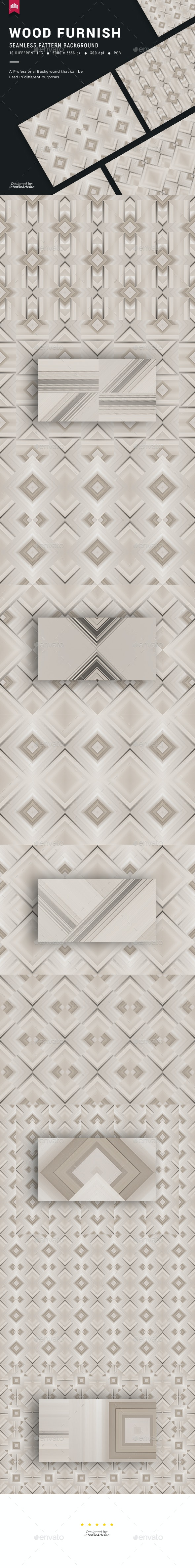 Wood Furnish Seamless Pattern Background - Patterns Backgrounds