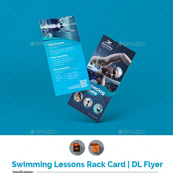 Swimming Lessons Rack Card | DL Flyer
