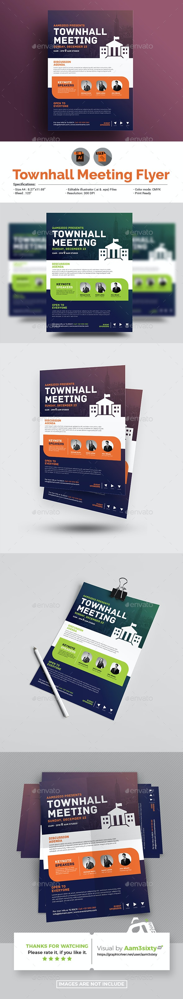 Townhall Event Flyer Template - Events Flyers