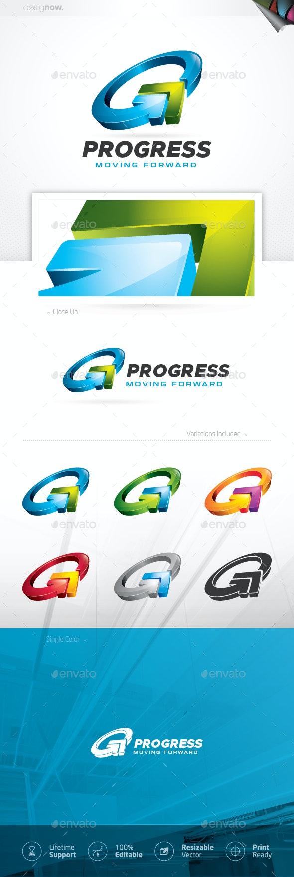 Progress Arrow Logo - Company Logo Templates