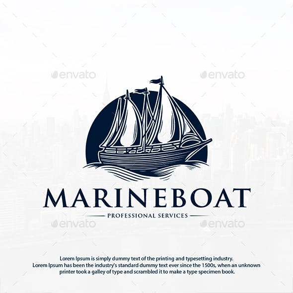 Marine Boat Logo Template