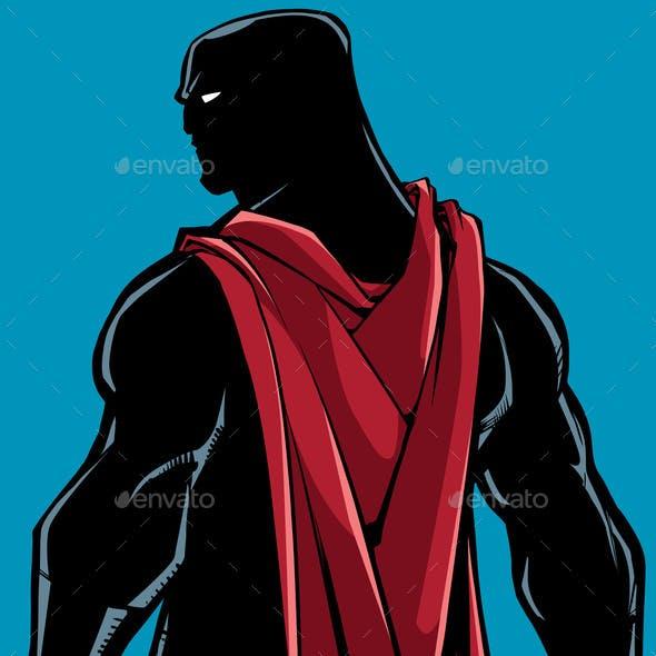 Superhero Back Battle Mode Silhouette