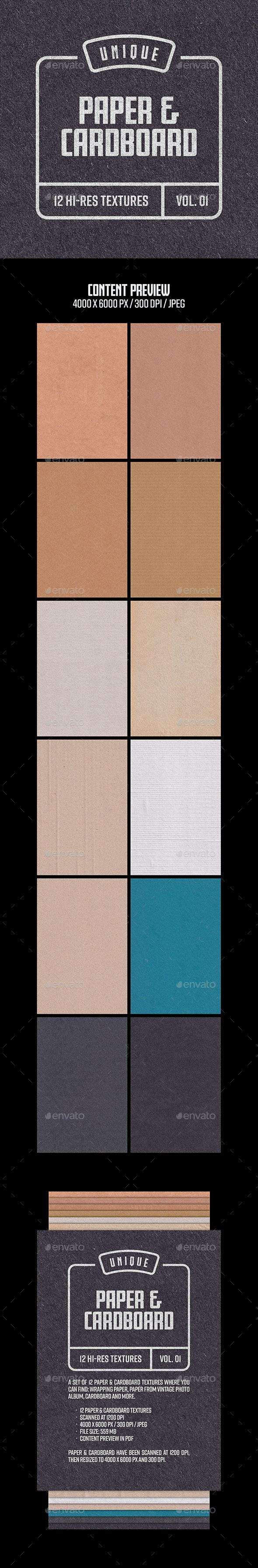 Paper & Cardboard Textures - Vol. 01 - Paper Textures