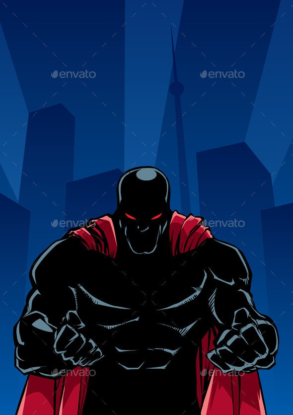 Raging Superhero City Silhouette - Miscellaneous Characters