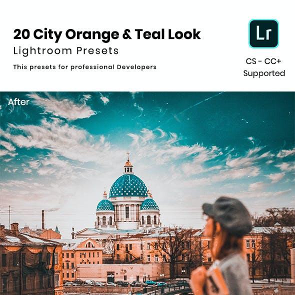 20 City Orange & Teal Look Lightroom Preset