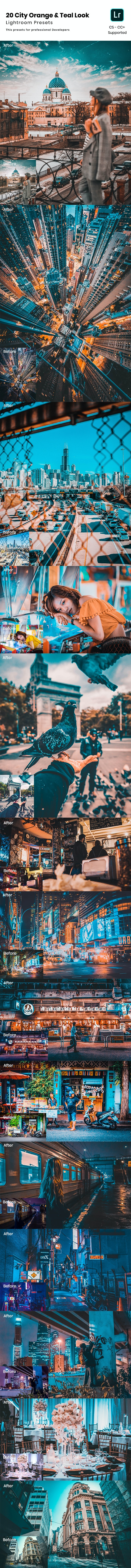 20 City Orange & Teal Look Lightroom Preset - Cinematic Lightroom Presets