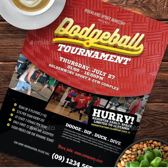 Dodgeball Tournament Flyer Templates