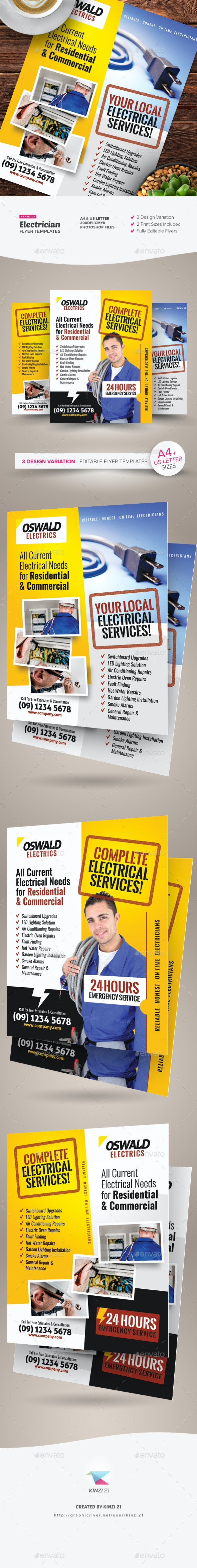 Electrician Flyer Templates - Corporate Flyers