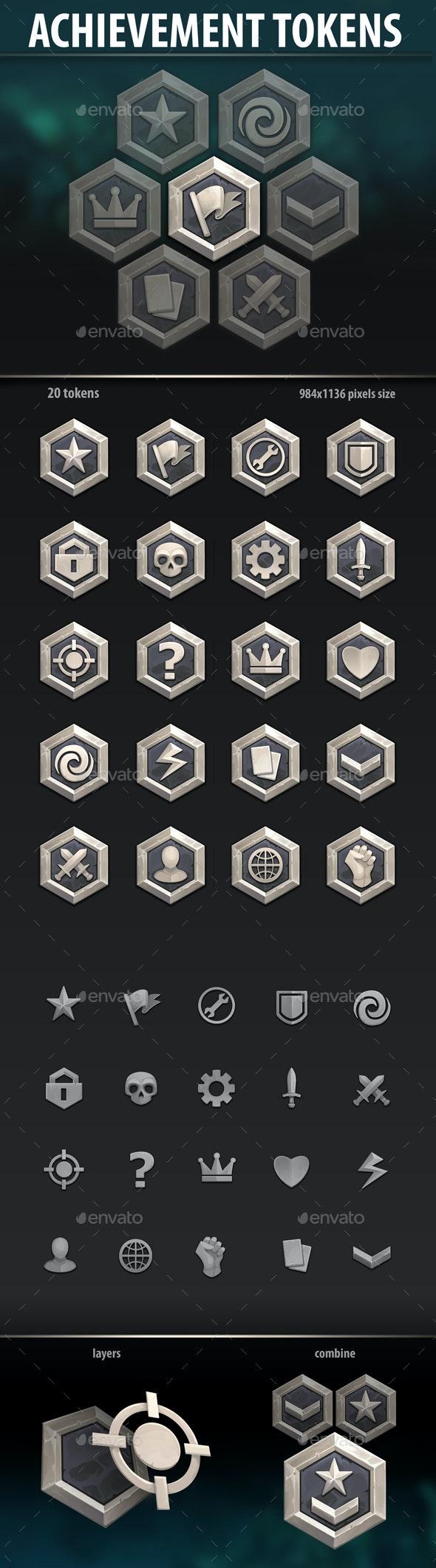 Achievement Tokens - Miscellaneous Game Assets