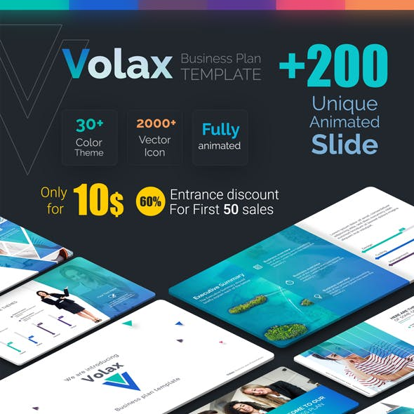Volax Business Plan PowerPoint Template