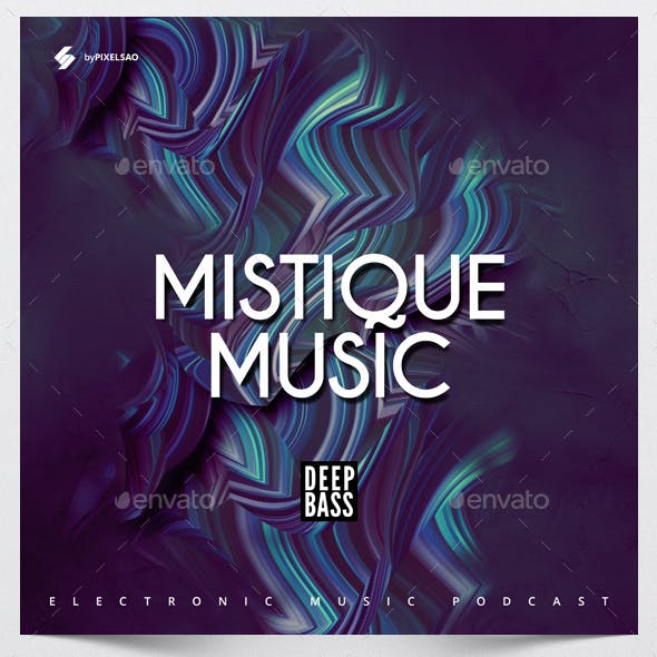 Mystique Music - Album Cover Artwork Template