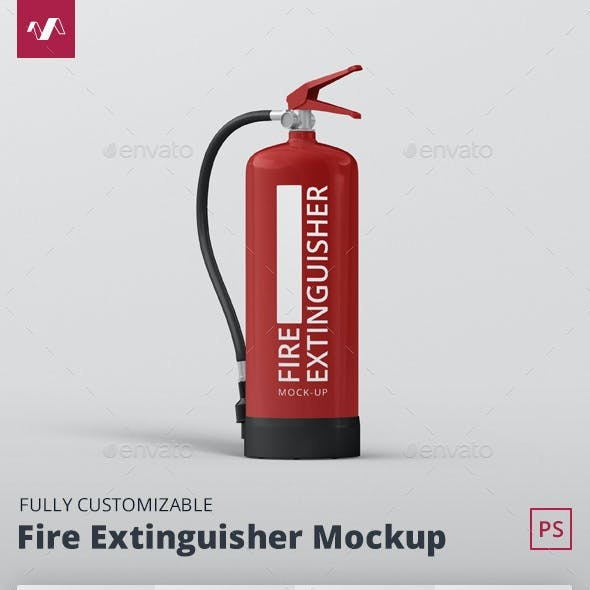 Fire Extinguisher Mockup
