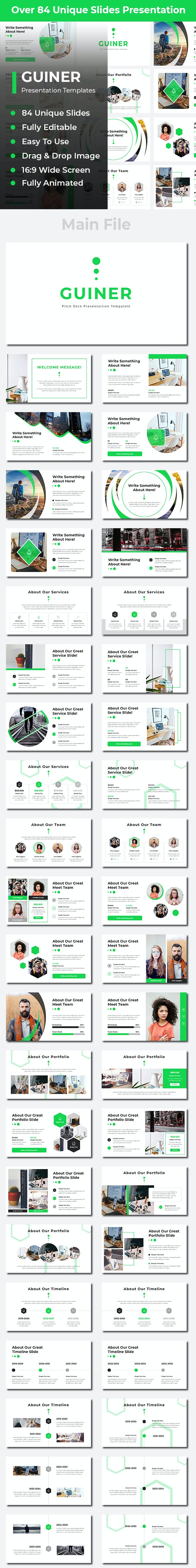 Guiner Pitch Deck PowerPoint - Business PowerPoint Templates