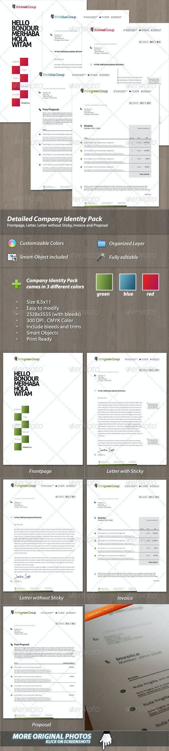 Modern Company Identity Pack for your Business - Stationery Print Templates