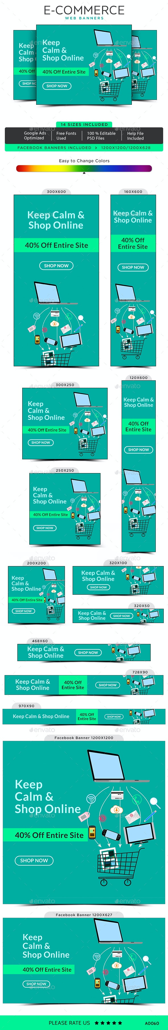 E-Commerce Web Banner Set - Banners & Ads Web Elements
