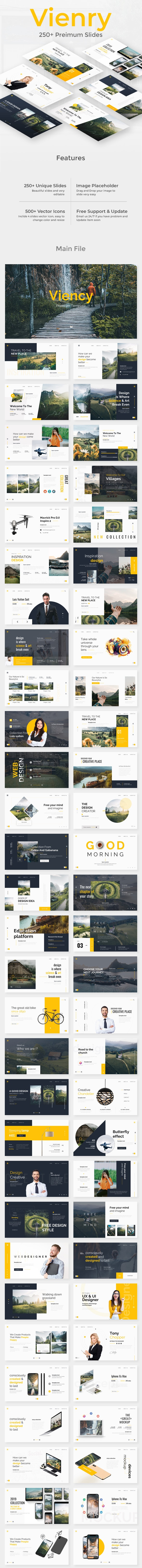 Viency Premium Keynote Template - Creative Keynote Templates